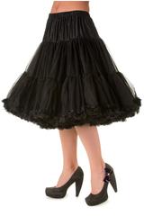 "50s Vintage Rock n Roll Rockabilly Petticoat Skirt 26"" Black"