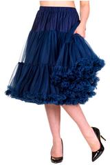 "50s Vintage Rock n Roll Rockabilly Petticoat Skirt 26"" Navy"