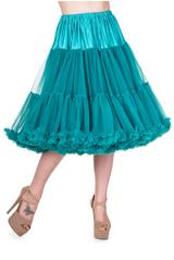 "50s Vintage Rock n Roll Rockabilly Petticoat Skirt 26"" Teal"