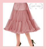 """50s Vintage Supersoft Rock n Roll Rockabilly Petticoat Skirt 26"""" With Petticoat Bag Vintage Pink"""