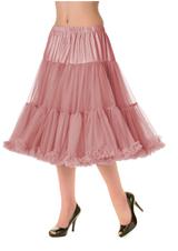 "50s Vintage Rock n Roll Rockabilly Petticoat Skirt 26"" Vintage Pink"