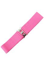Vintage Stretch Belt - Hot Pink