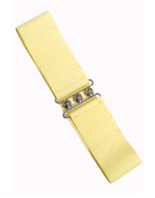 Vintage Stretch Belt - Pale Yellow