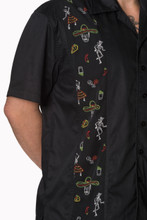 Mens Short Sleeve Black Shirt Midnight City