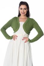 Super Soft Bolero Cardigan - Apple Green
