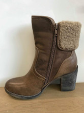 Refresh Brown High Heel Ankle Boots