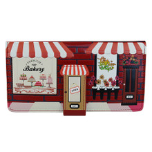 Vintage Bakery Store Front Large Purse - Red