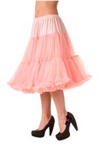 "Dancing Days  26"" 1950s Soft Multi layered Petticoat Coral"