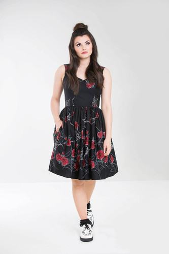 Hell Bunny Sabrina Cobweb Dress