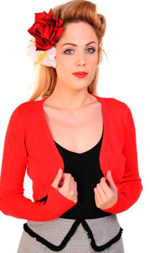 Vintage Style Red Bolero Cardigan