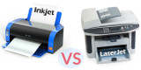 What is the difference between ink and laser jet printers?