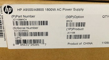 HP JC110B 1800W Power Supply for A9500/A8800