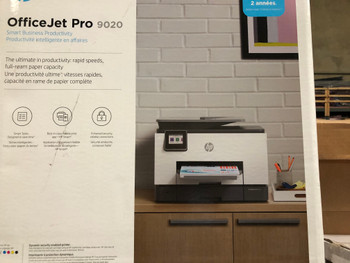 1MR78A#B1H HP OfficeJet Pro 9020 All-In-One Printer- NEW OPEN BOX; LIMITED PAGE COUNT; 90%+ TONERS
