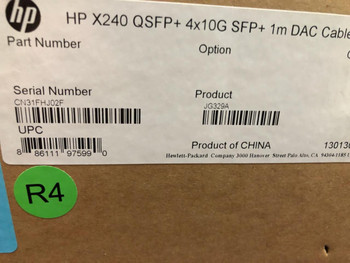 Hp X240 Qsfp+ 4x10g Sfp 1.0m Direct Attach Copper