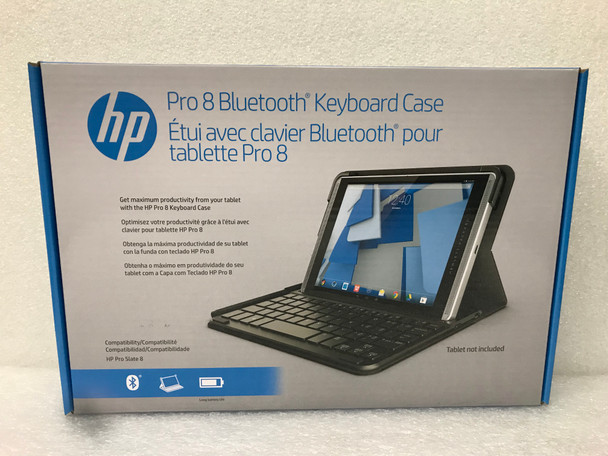 New HP Pro 8 Wireless BlueTooth Keyboard and Folio Case Black (K4U64AA#ABA)