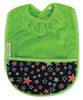 Lime Stars Towel Pocket Bib