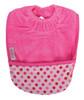 Cerise Dots Towel Pocket Bib
