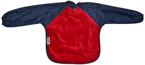 Red/Navy Towel Long Sleeve Bib
