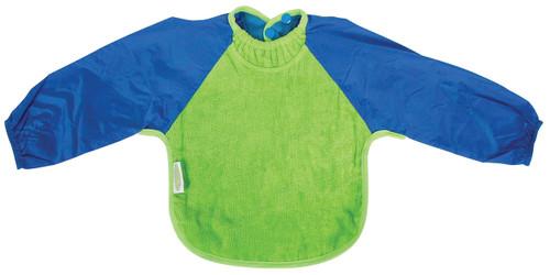 Lime/Royal Towel Long Sleeve Bib