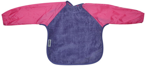 Lilac/Cerise Towel Long Sleeve Bib (Large)