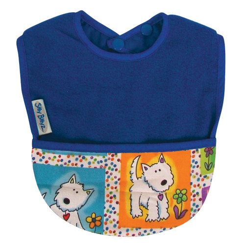 Royal Dog Fleece Pocket Bib