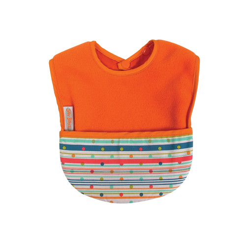 Orange Sprite Fleece Pocket Bib