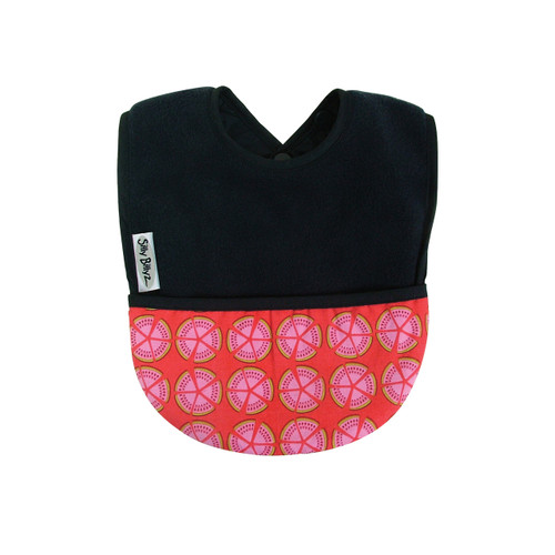 Navy Melon Fleece Pocket Bib