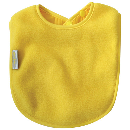 Yellow Fleece Large Bib