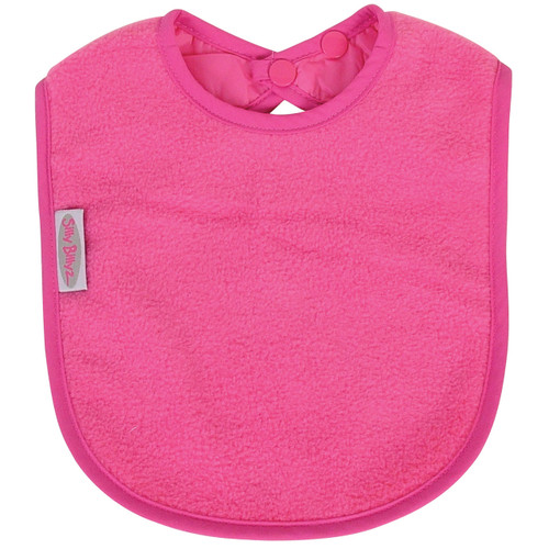 Cerise Fleece Large Bib