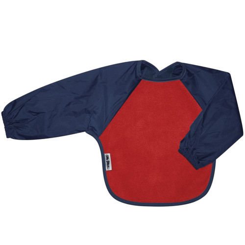 Red/Navy Fleece Long Sleeve Bib
