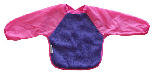 Purple/Cerise Fleece Long Sleeve Bib