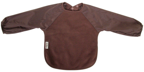 Chocolate Fleece Long Sleeve Bib