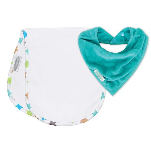 Aqua/Stella Shoulder & Bandana Bibs pack