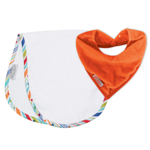 Orange/Sprite Shoulder & Bandana Bibs pack