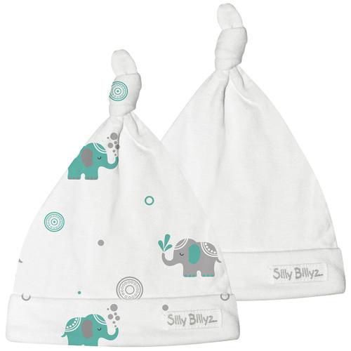 Elephant Gumnut Baby Hat 2pk