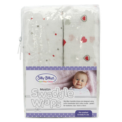 Muslin Swaddle Wrap 2PK - Girl