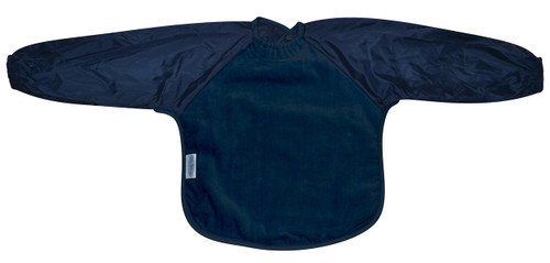 Navy Towel Long Sleeve Bib