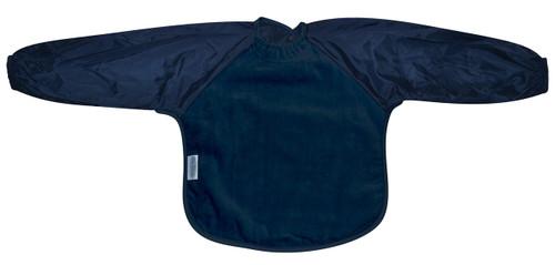 Navy Towel Long Sleeve Bib