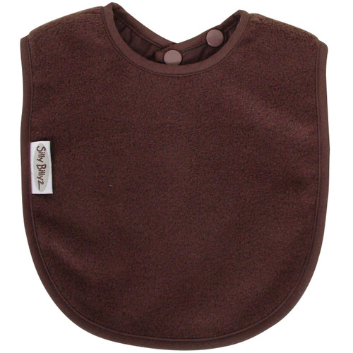 Chocolate Fleece Large Bib