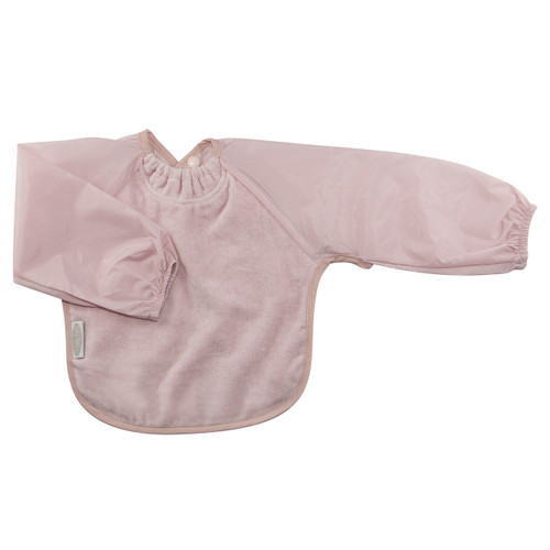 Antique Pink Towel Long Sleeve Bib