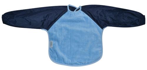 Sky Blue/Navy Towel Long Sleeve Bib