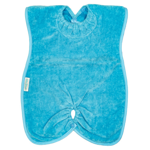 Aqua Towel Highchair Hugger Bib