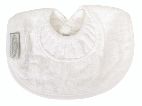 White Towel Infant Dribble Biblet