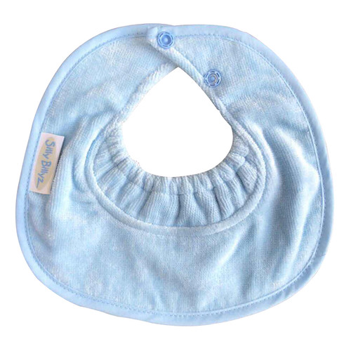 Dusty Blue Towel Infant Dribble Biblet