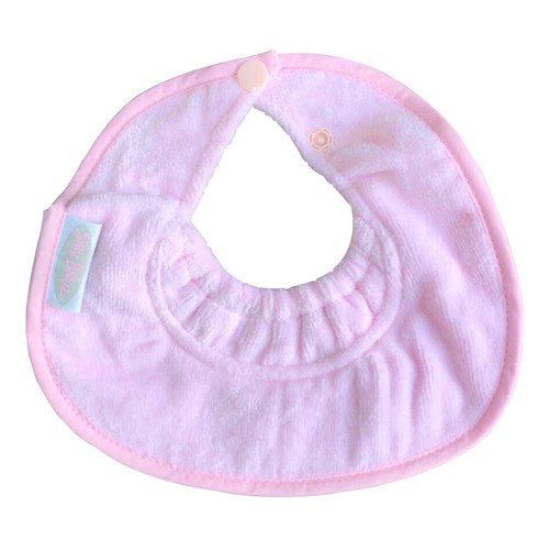 Antique Pink Towel Infant Dribble Biblet
