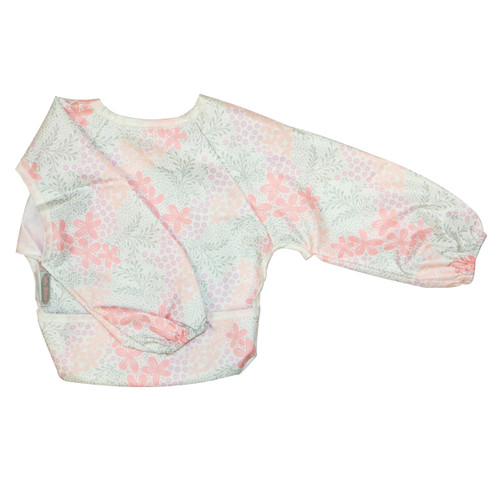 Bloom Wipe Clean Nylon Long Sleeve Bib