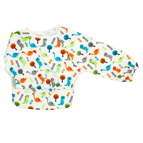 Roar Wipe Clean Nylon Long Sleeve Bib