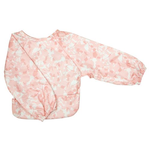 Roses Wipe Clean Nylon Long Sleeve Bib