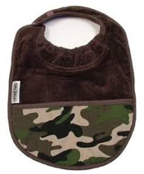 Chocolate Camo Towel Pocket Bib
