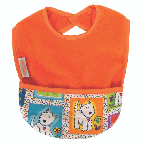 Orange Dog Fleece Pocket Bib
